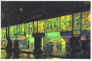 Street Arcade© Syd Mead, Inc.   『ブレードランナー』  © 1982 The Blade Runner Partnership. All Rights Reserved.